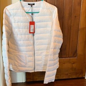 Jackets & Blazers - White puffer jacket. New with tags. Size 12